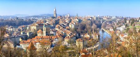 Vue panoramique sur la vieille ville de Berne, Suisse