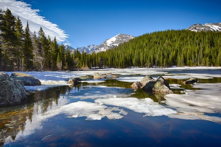 bear lake: Bear Lake at the Rocky Mountain National Park, Colorado, USA