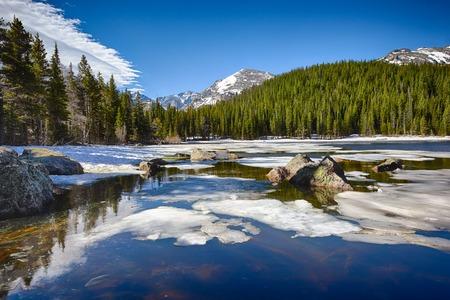 rocky mountain national park: Bear Lake at the Rocky Mountain National Park, Colorado, USA