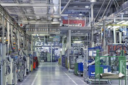 autofabriek als een industriële achtergrond Stockfoto