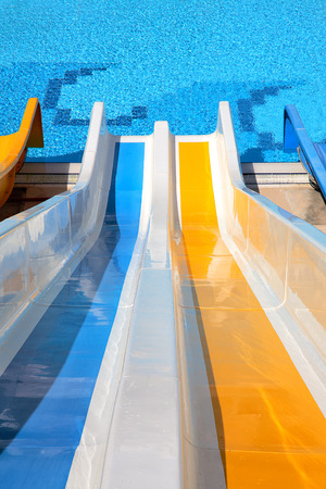 water slide with pool Stock Photo - 31425995