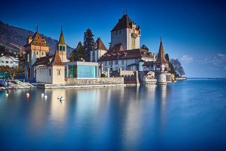 outpost: Oberhofen castle on the lake Thun, Switzerland