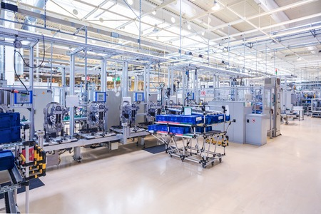 modern manufacturing: engine manufacturing at car plant Editorial