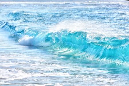 water waves: turquoise waves at Sandy Beach, Oahu, Hawaii, USA