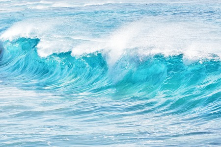sandy beach: turquoise waves at Sandy Beach, Oahu, Hawaii, USA