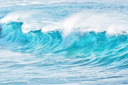 estado del tiempo: turquoise waves at Sandy Beach, Oahu, Hawaii, USA