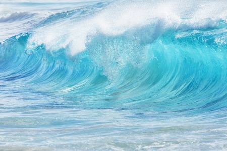 Turquoise waves at Sandy Beach, Oahu, Hawaii, USA Stock Photo