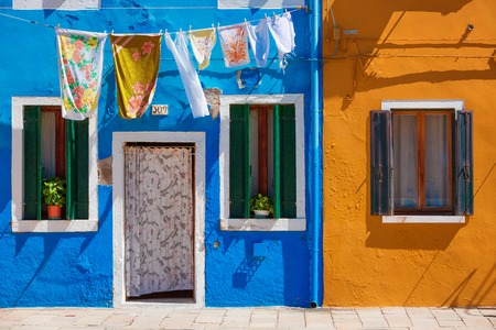 colourfully: Usual life on Burano island, province of Venice, Italy