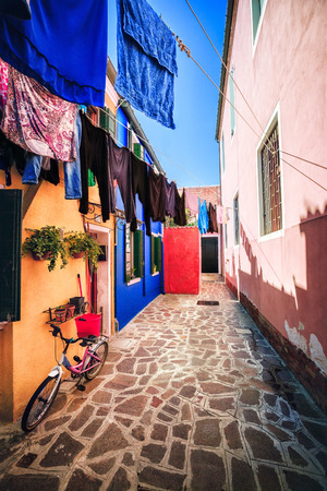 colourfully: Everyday life on Burano island, province of Venice, Italy
