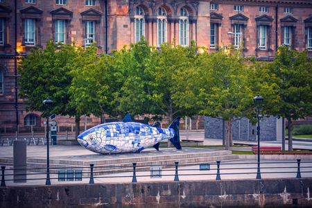 The Big Fish is a printed ceramic mosaic sculpture in Belfast also known as The Salmon of Knowledge. The work celebrates the regeneration of the Lagan River.