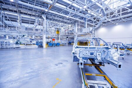 części zamienne w fabryce samochodów Zdjęcie Seryjne