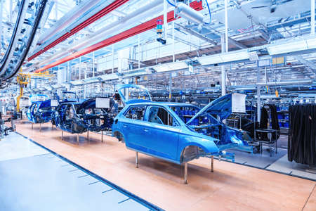 automobile body at car plant