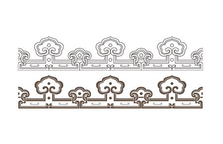Flat border pattern of Chinese traditional art decoration Illustration