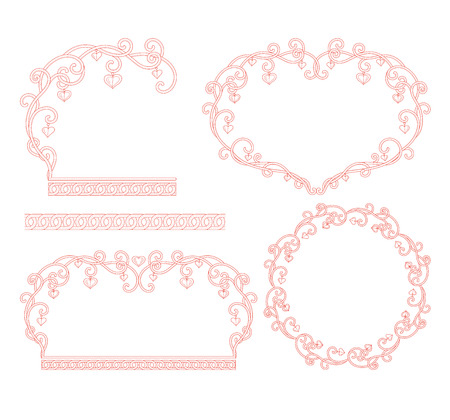 Heart shaped border pattern