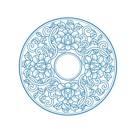 Chiński tradycyjny wzór dekoracyjny