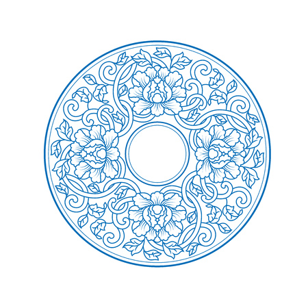 Chinese traditional decorative pattern Illusztráció