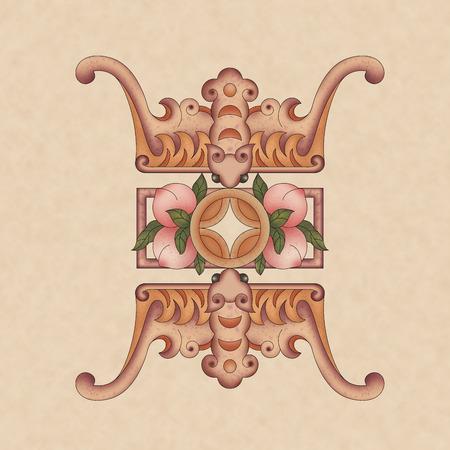 Chinese traditional decorative pattern Фото со стока
