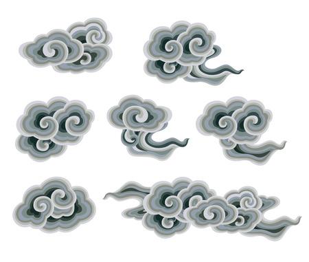Traditional cloud decoration Illustration