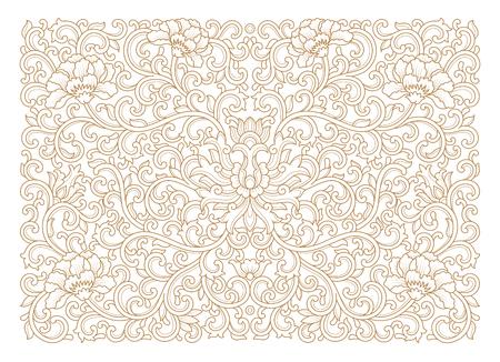Floral line background Illustration