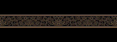 Chinese classical line pattern on black background