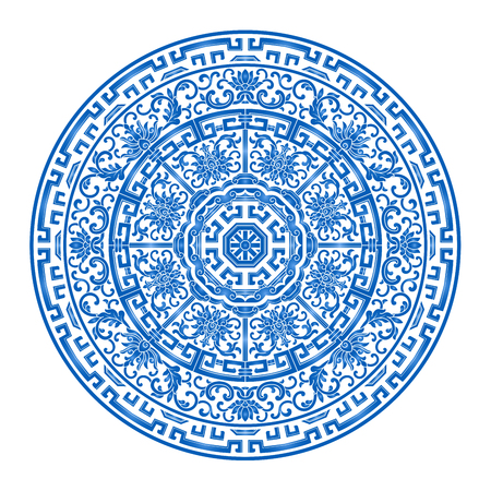 Chinese classical blue and white porcelain pattern