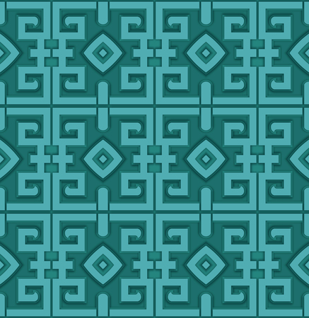 Seamless traditional decorative shading pattern Stockfoto