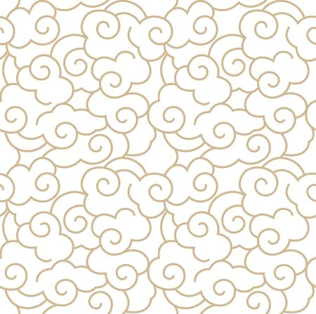 Traditional seamless continuous shading yellow line pattern