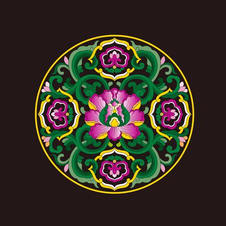 Chinese traditional Chinese classical circular pattern