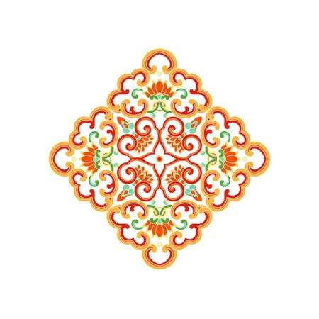 Chinese traditional pattern on white background