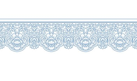 Chinese traditional blue blue and white pattern pattern, white background
