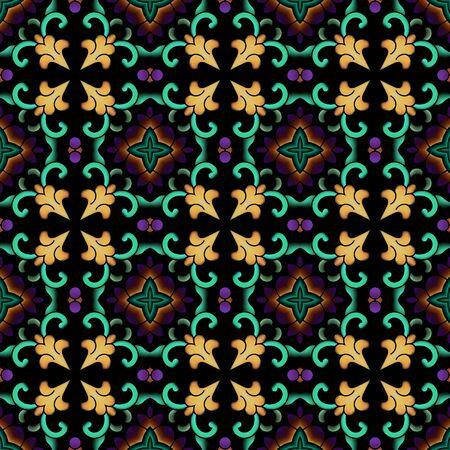 Traditional seamless pattern pattern shading background