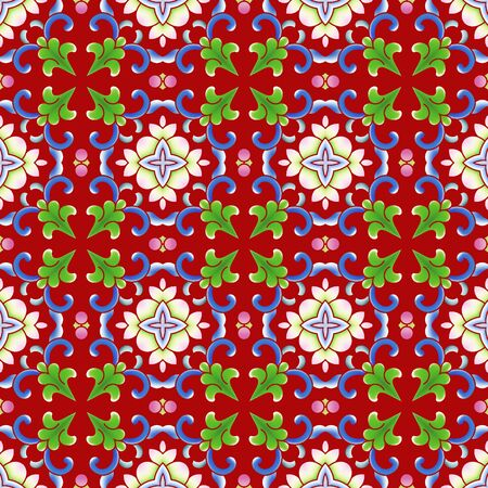 Traditional floral floral shading background pattern 版權商用圖片