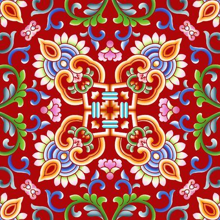 Red festive traditional pattern 版權商用圖片