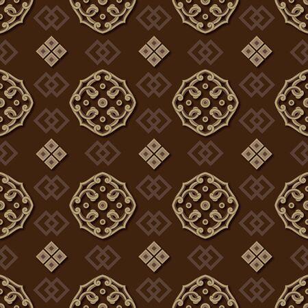 Traditional shading pattern wallpaper pattern
