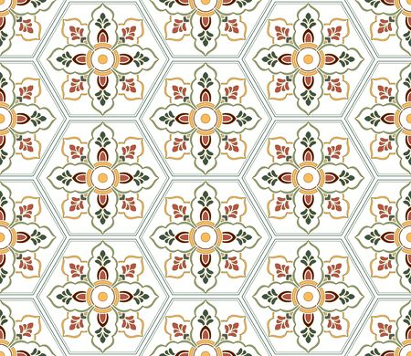 Seamless traditional pattern shading background 向量圖像