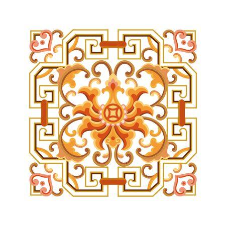 Square art pattern