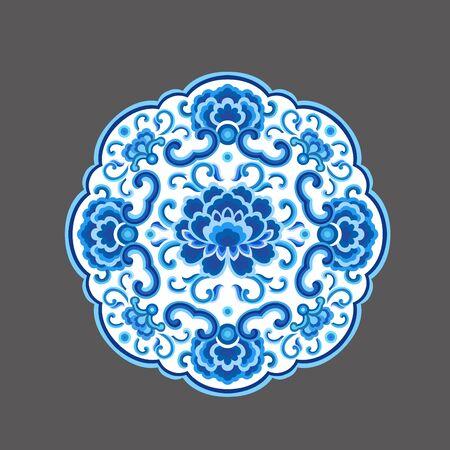 Blue lotus pattern 版權商用圖片 - 143086444