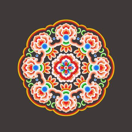 Bright traditional pattern 向量圖像
