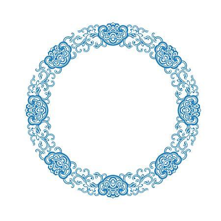 Blue traditional pattern 向量圖像