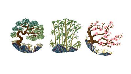 Pine Bamboo Plum Traditional Pattern