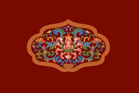 Traditional oriental pattern