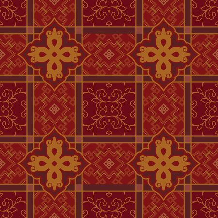 Seamless continuous traditional pattern pattern