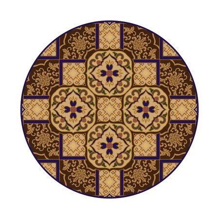 Retro circular floral pattern 版權商用圖片