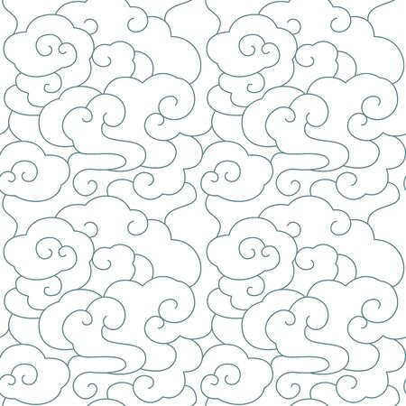 Seamless traditional moire decorative pattern