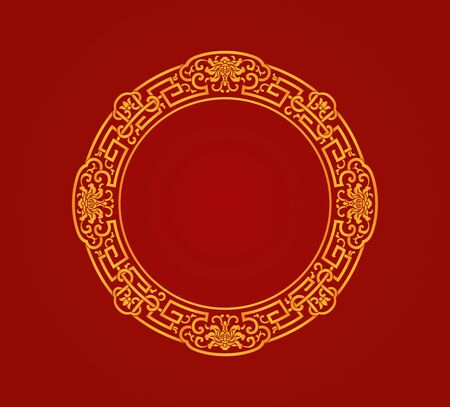 Red round decorative lace