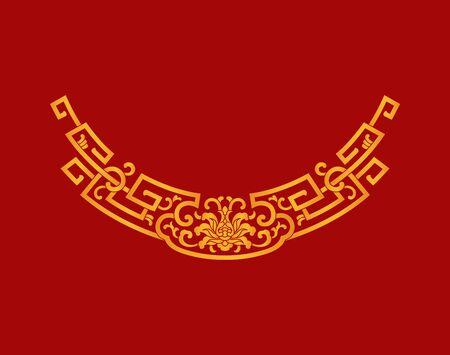 Red decorative border