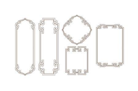 Traditional art border pattern 向量圖像