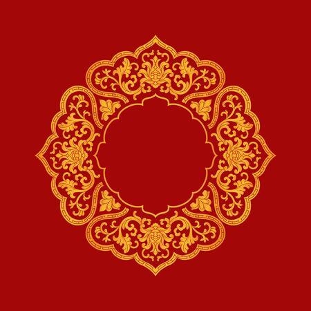 Traditional art lace pattern decorative pattern