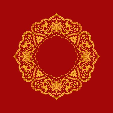 Traditional art lace pattern decorative pattern 向量圖像