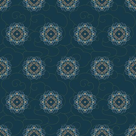 Seamless traditional shading decorative background pattern 向量圖像